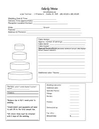 wedding cake quotation template cake order form paso evolist co