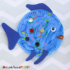 paper plate fish craft inspired rainbow fish
