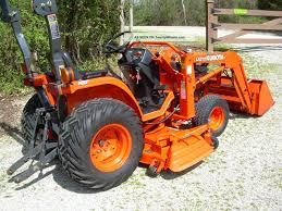 kubota b7500 tractor w loader u0026 belly mower 334 hours near