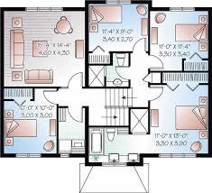 split plan house multi level house plan 4 bedrms 2 5 baths 1867 sq ft 126 1065