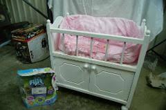 badger basket doll crib with cabinet lotnut