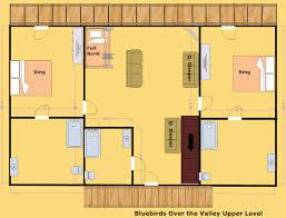 Wilderness Lodge Floor Plan Wears Valley Cabin Bluebirds Over The Valley 8 Bedroom
