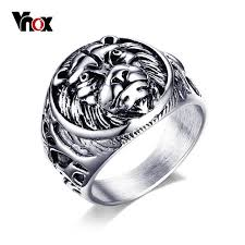 aliexpress buy vnox 2016 new wedding rings for women aliexpress buy vnox retro style animal lion stainless steel