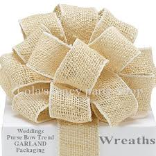 burlap wired ribbon items similar to burlap wired ribbon 2 yards 1 1 2 inches
