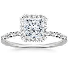 princess cut engagement rings white gold princess cut engagement rings brilliant earth