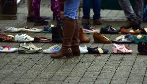 Bedroom Tax Policy Heart Rending Messages Left On Shoes At Action To End Homelessness