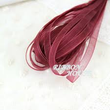 christmas ribbon wholesale aliexpress buy 20 meters 1 4 6mm wine organza