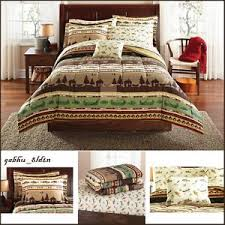 Fish Themed Comforters Lakeside Cabin Hunting Fishing Themed Complette Comforter Sheet