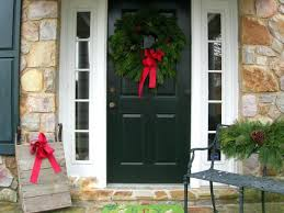 Door Decorations For Winter - front door decoration ideas for christmas diy halloween