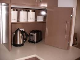 Best Appliance Cupboard Images On Pinterest Home Appliance - Kitchen cabinet roller doors