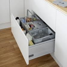 Kitchen Recycling Bins For Cabinets Pan Drawer Recycling Bin Kitchen Waste Management Howdens Joinery