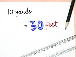 Feet In A Meter How To Convert Yards To Feet 3 Steps With Pictures Wikihow