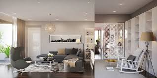 modern living room decorated stylistically