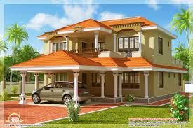 modern chic sloping roof house design