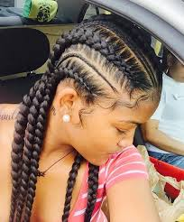 hairstlye of straight back simple hairstyle for straight back braids hairstyles best images