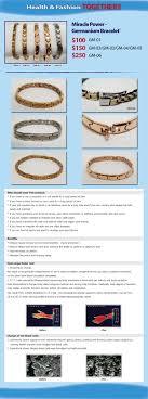 germanium power bracelet images Germanium bracelet miracle power snore jpg