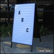 changeable outdoor signs osa sign parts by outdoor signs america