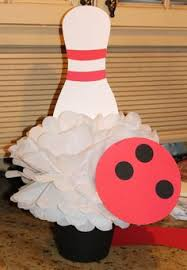 Bowling Party Decorations Bowling Party Centerpiece My Creations Pinterest Bowling