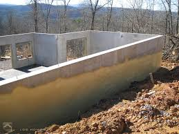 rough plumbing concrete and insulation custom timber log homes