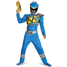 morphsuits spirit halloween power rangers dino charge boys blue ranger muscle costume