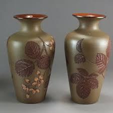 Antique Ceramic Vases A Pair Of Salopian Art Pottery Vases U2013 Current Sales U2013 Barnebys Com