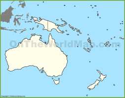 Map Of The World Blank by Blank Map Of Oceania