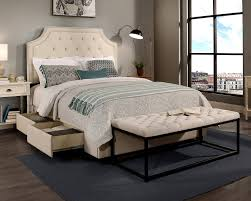 republicdesignhouse audrey upholstered panel headboard and bench