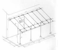 Patio Canopies And Awnings by Build A Simple Awning Frame With Kee Klamp Fittings Projects To