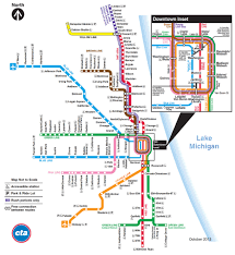 Blue Line Chicago Map by Kickmap Chicago