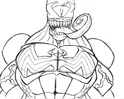 venom pictures to color free download