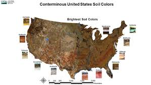 us map states by color the soil colors of the national parks munsell color system