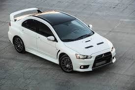 mitsubishi street racing cars last mitsubishi lancer evolution ever made sells for 76 400