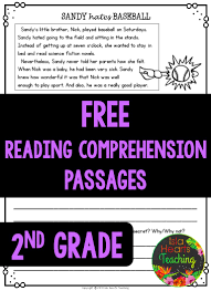 2nd Reading Comprehension Worksheets Free Reading Comprehension Passages Islaheartsteaching Isla