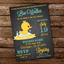 chalkboard rubber duck baby shower invitation instant