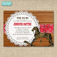 baby shower invitations stunning western baby shower invitations