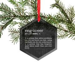 funny definition of engineer glass christmas ornament u2013 neurons