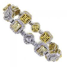 white diamond tennis bracelet images Yellow diamond tennis bracelet white platinum 12ct 12 45ct jpg
