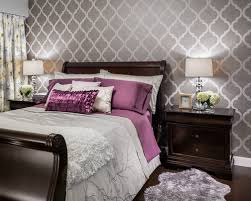 Excellent Idea Bedroom Wallpaper Designs Ideas Houzz On Home - Bedroom wallpaper idea