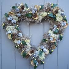 heart wreath winter moss and berry heart wreath by pippa designs