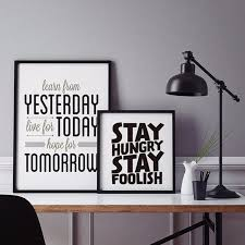 modern deer poster sayings quotes canvas pictures pop