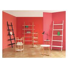 5 shelf bookcase with shelf bookcase snake beech wood and chrome
