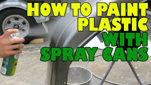 how to paint plastic with spray cans youtube