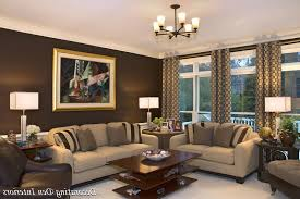 best wall colors for living room with dark brown furniture