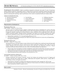 Control M Resume Resume Examples For Warehouse Resume Example And Free Resume Maker
