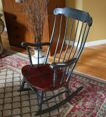Antique Spindle Rocking Chair Antique Colonial Rocking Chair Sold