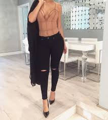 lace bodysuit and jeans street style pinterest bodysuit