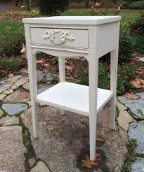 vintage painted white shabby chic nightstand