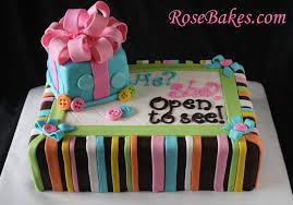 baby gender reveal cake rose bakes