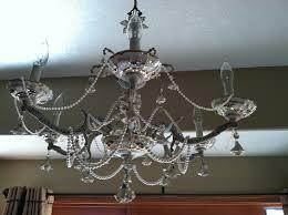 natural homemade living shabby chic chandelier