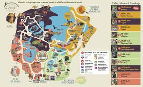 Furry Map Daily Schedule Palm Beach Zoo